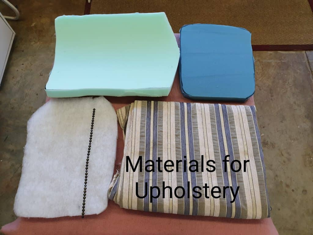 upholstery project materials