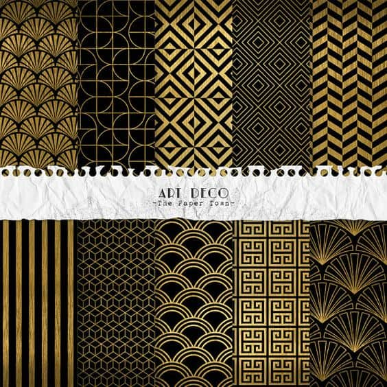 printable Art Deco patterns