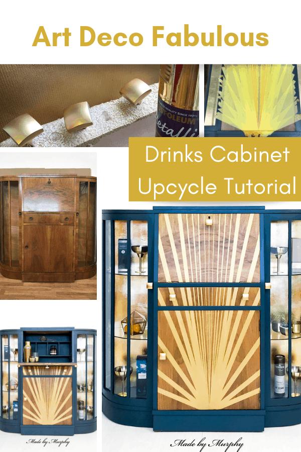 bureau to Art Deco drinks cabinet tutorial