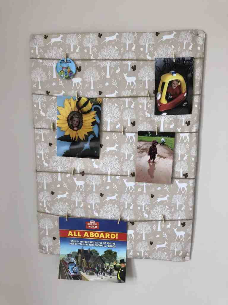 DIY photo display board tutorial