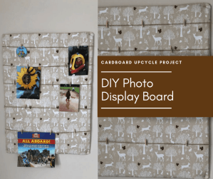 DIY Photo display board tutorial