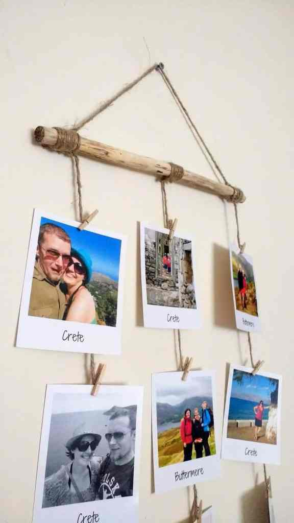 DIY photo display wall hanging