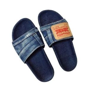 sandals made from reused old jeans