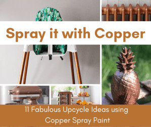 copper spray paint project ideas