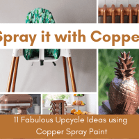 11 Fabulous Upcycling Projects using Copper Spray Paint