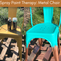 How to Spray Paint a Metal Chair - Easy Ombre Upcycle Project