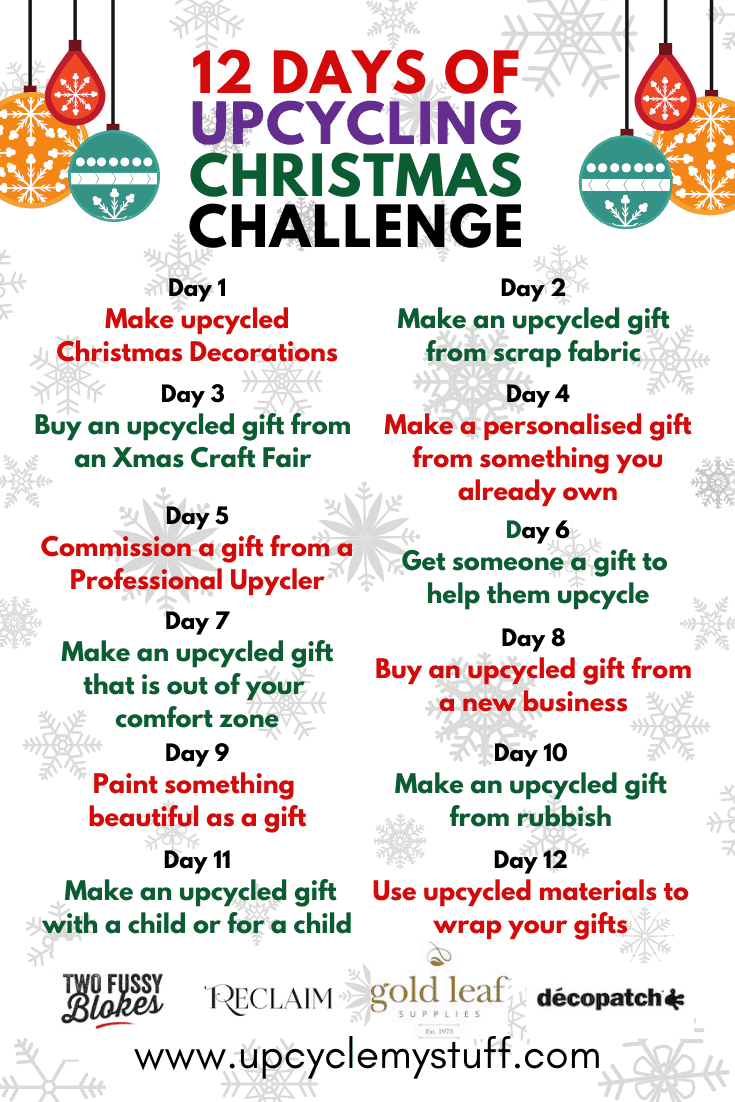 12 days of upcycling christmas challenge