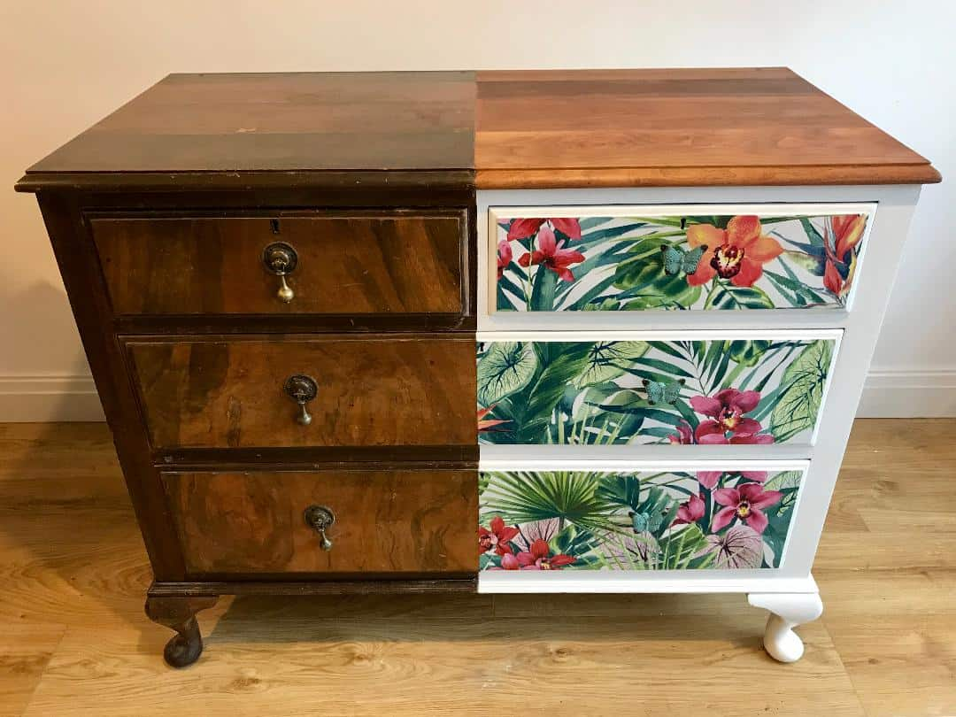 before and after furniture transformation