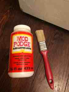 sealing with mod podge