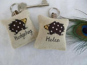 diy scrap fabric personalised keyring gift