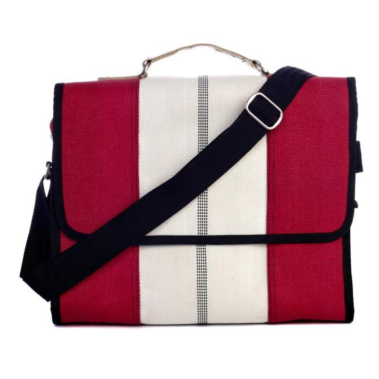 recycled fire hose bag gift for him