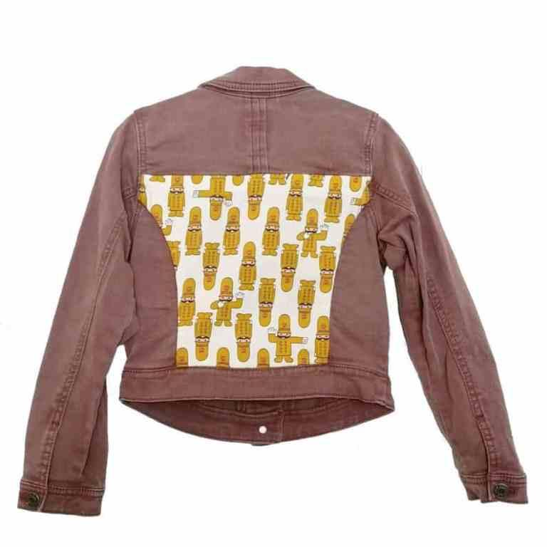 upcycled Childs denim jacket