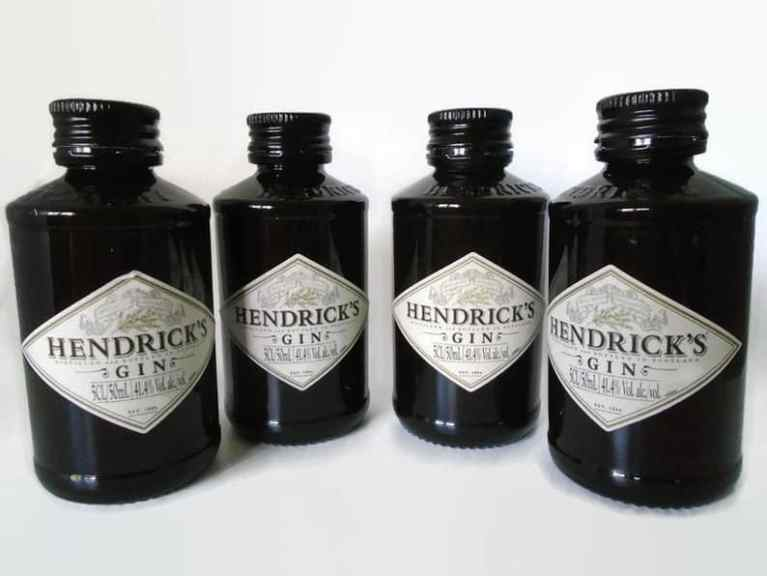Hendricks Gin Salt and Pepper Shakers - Recycled Gift Idea