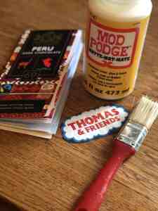 mod podge for thomas train colouring book