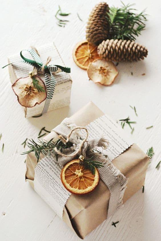 Kraft paper gift wrap ideas