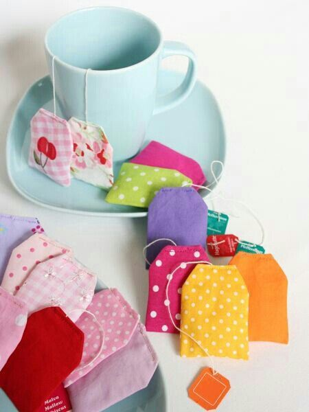 fabric food tea bags