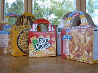 how to reuse a cereal box as a gift bag