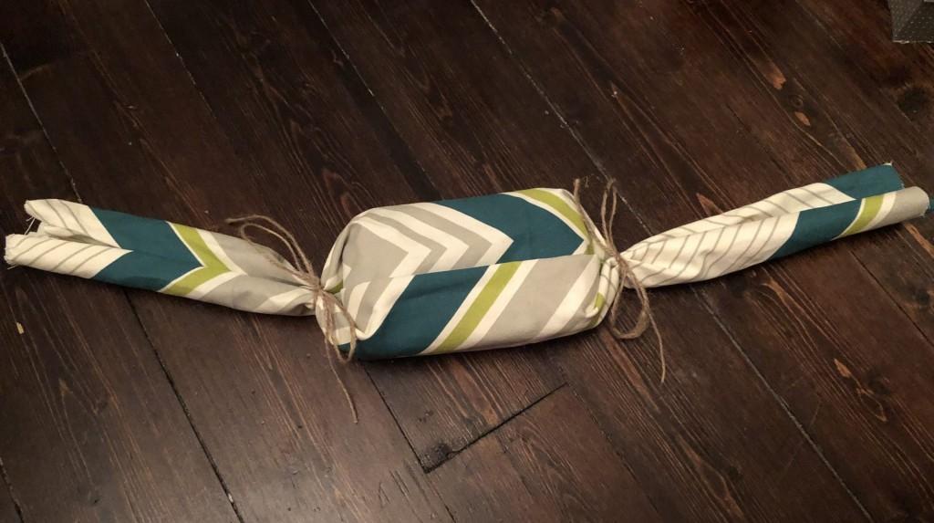 fabric gift wrap idea