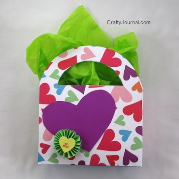 upcycled cereal box as a gift bag