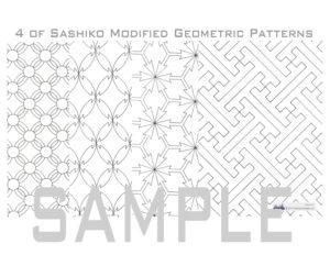 Sashiko book pattern _ modified patterns