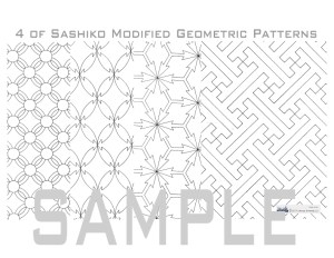 Sashiko book pattern _ modified patterns
