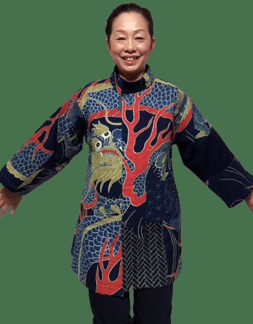 Keiko Futatsuya Designing Sashiko Jacket