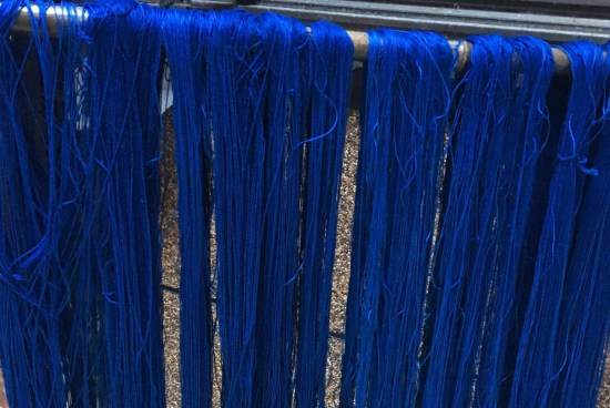 Natural Indigo Dye Thread Process