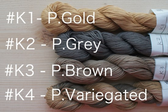 Kakishibu Dyed Thread 4 Shades availability