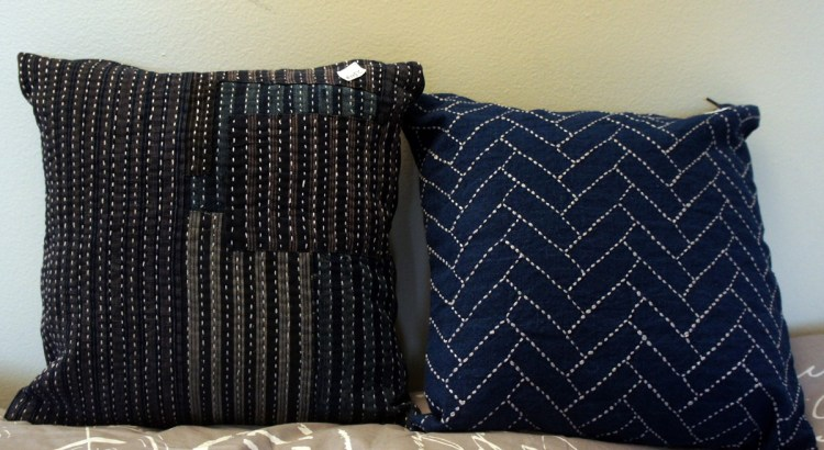 Sashiko Cushion Cover Boro and Traditional