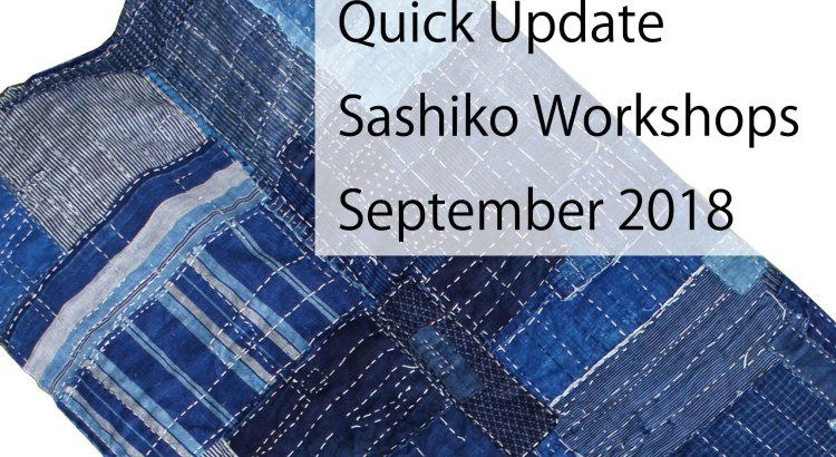 Sashiko Workshops September 2018