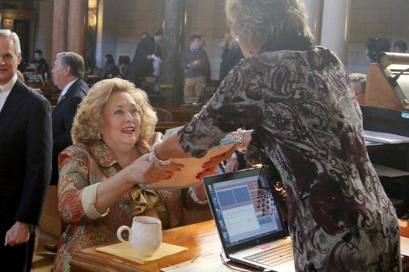 Sen. Carol Blood delivers new bills to be introduced.