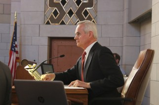 Lt. Gov. Mike Foley presided over the day's proceedings.