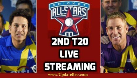 Cricket All Stars 2nd T20 Live Streaming