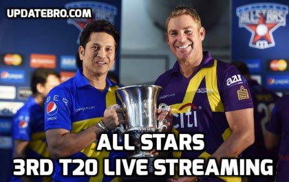 Cricket All Stars 3rd T20 Live Streaming