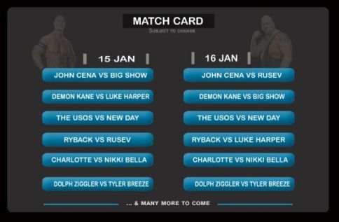 wwe-india-2016-match-card-fight-list