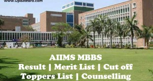 aiims mbbs result merit list cut off marks toppers