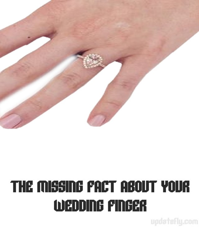 THE MISSING FACT ABOUT YOUR WEDDING FINGER
