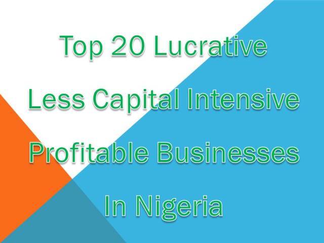 Top 20 Lucrative  Businesses In Nigeria