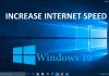 boost up internet speed on Windows 10