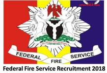 Federal Fire Service Recruitment 2018