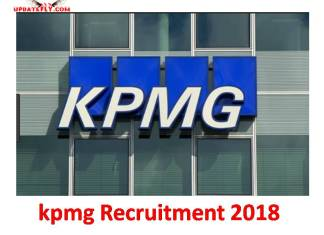 KPMG Graduate Trainee Program 2018/2019