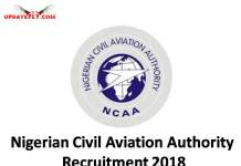 Nigerian Civil Aviation Authority Recruitment 2018
