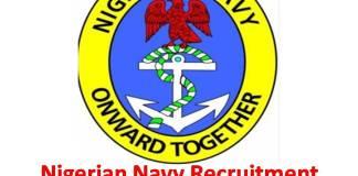 Nigerian Navy Recruitment 2018/2019
