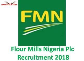 Flour Mills Nigeria Plc Recruitment 2018
