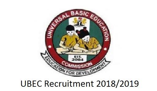 UBEC Recruitment 2018