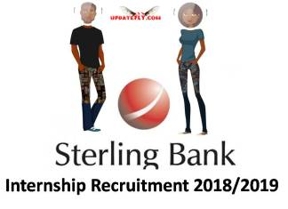 Sterling Bank Internship Recruitment 2018