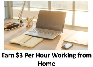 Earn $3 Per Hour Working from Home