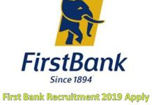 Firstbank Recruitment 2019