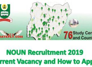 NOUN Recruitment 2019