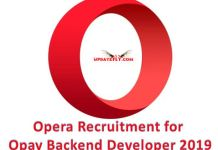 Opera Recruitment 2019